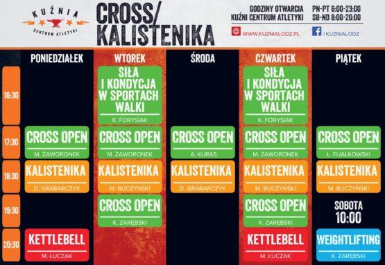 Cross i Kalistenika Plan Zajęć Kuźnia Łódź